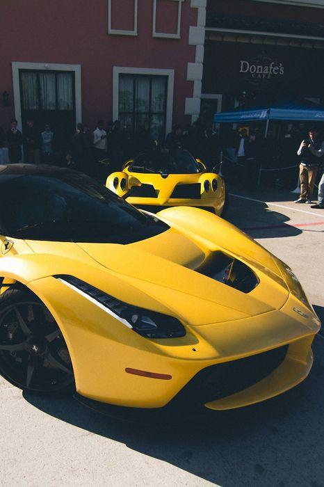 ferrari laferrari yellow sportcar zonda street