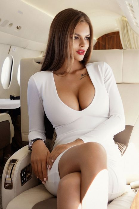 girl viki odintcova hot white dress plane 1280x1920