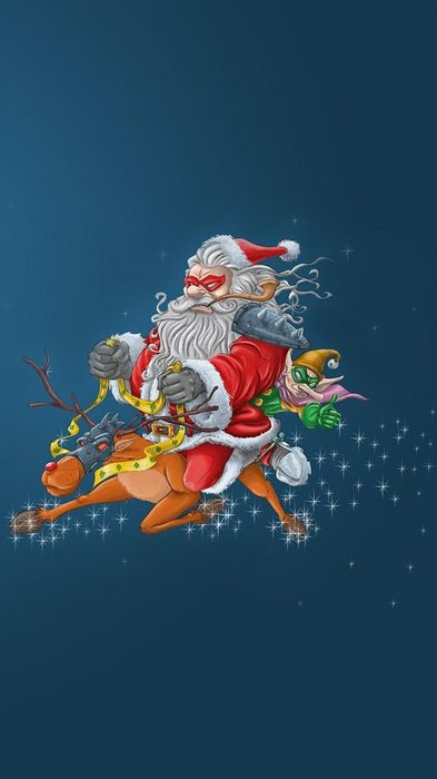 santa claus reindeer elf flying face masks christmas 1080x1920