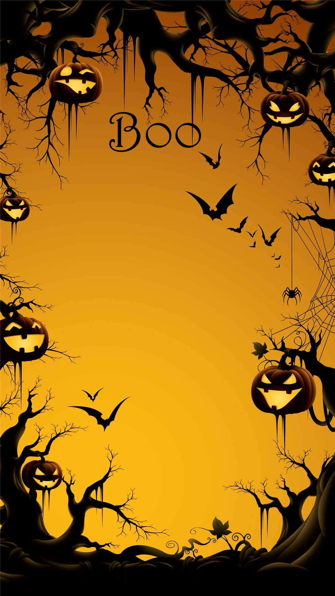 silhouette halloween scary sunset leaf bat creepy vector illustration