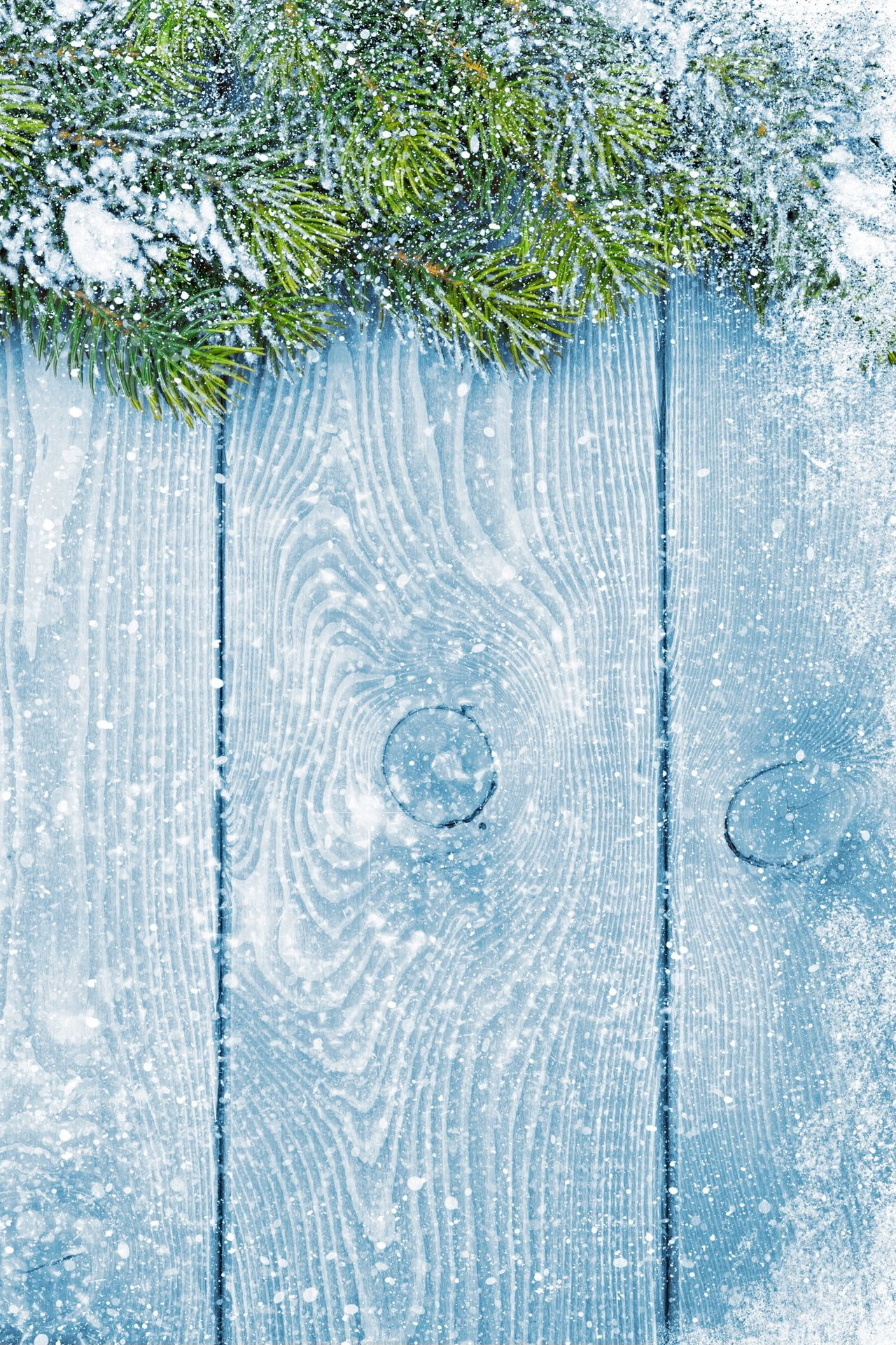 winter snow merry christmas blue wood 1280x1920