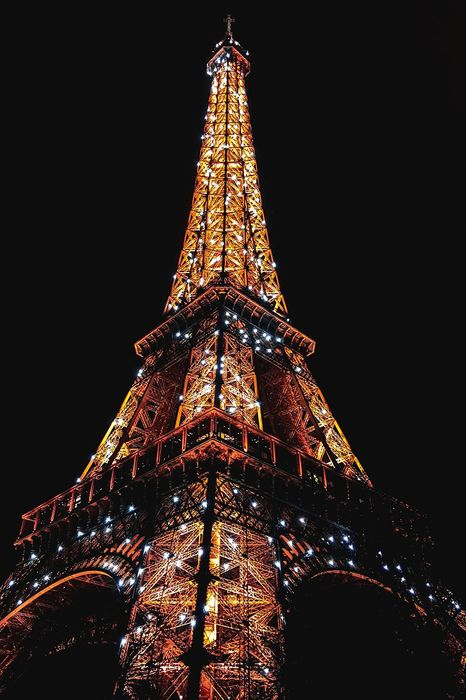 paris night eiffel tower lights