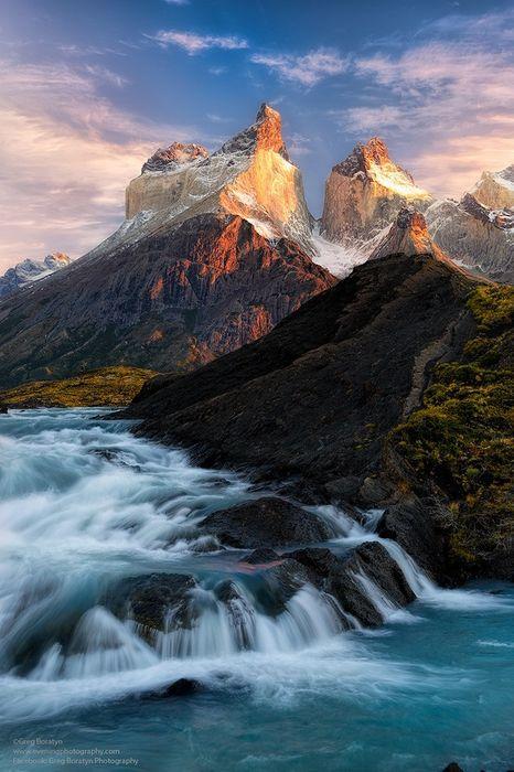 torres del paine national park river