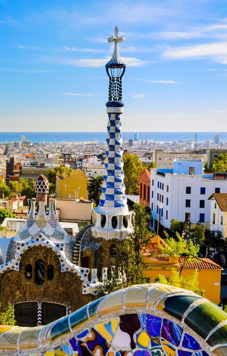 barcelona park guell colorful iphone7 retina