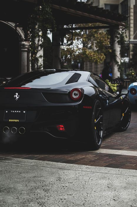 black ferrari 458 dream cars