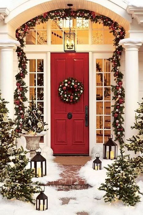 christmas decorations for front door