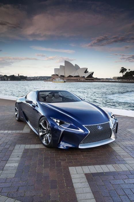 lexus lf lc blue concept sydney opera sportscar retina
