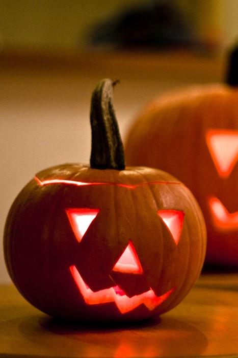 pumpkin halloween lantern candle eerie gourd fall still life carve scary