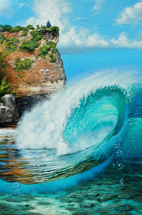 surf art phil roberts wave design picture