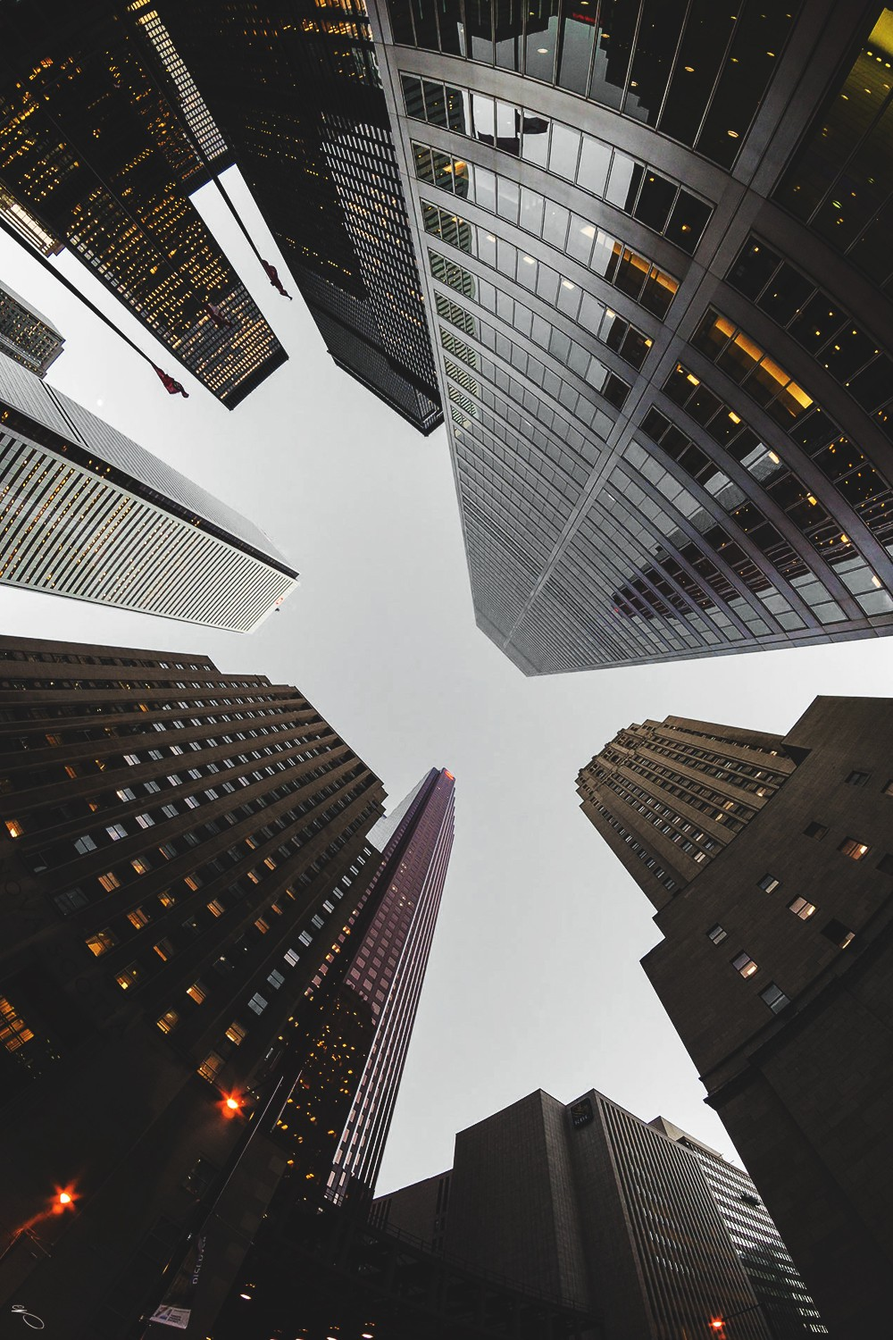 skyscrapers bottom view nyc wallpaper