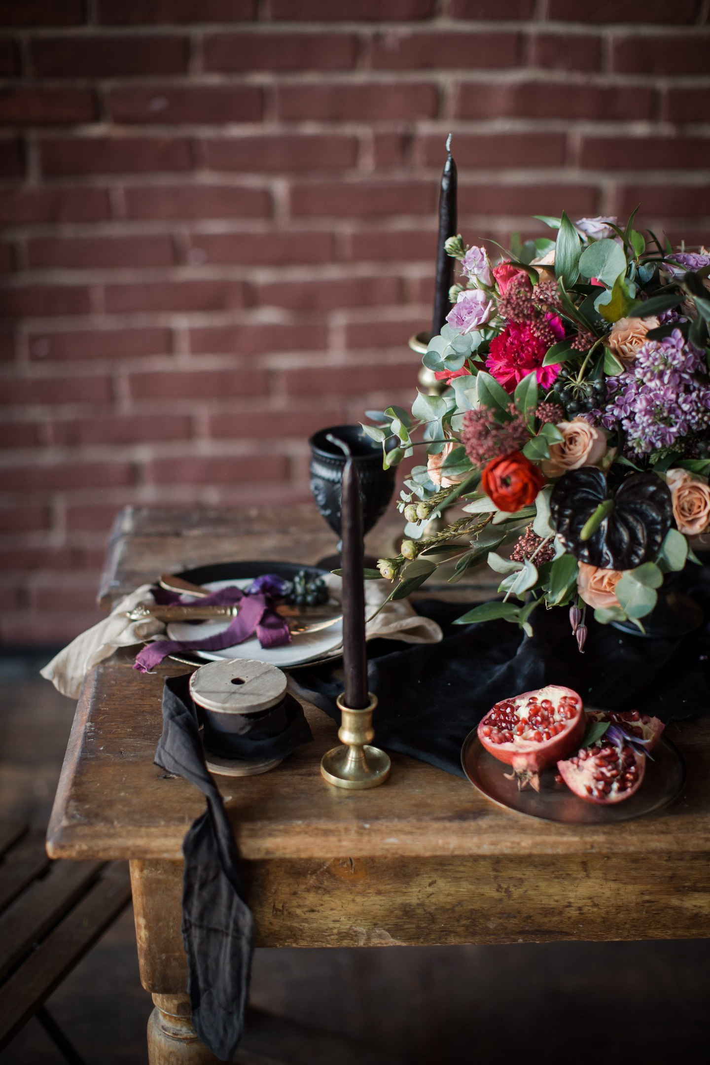 decor flowers table candle wallpaper