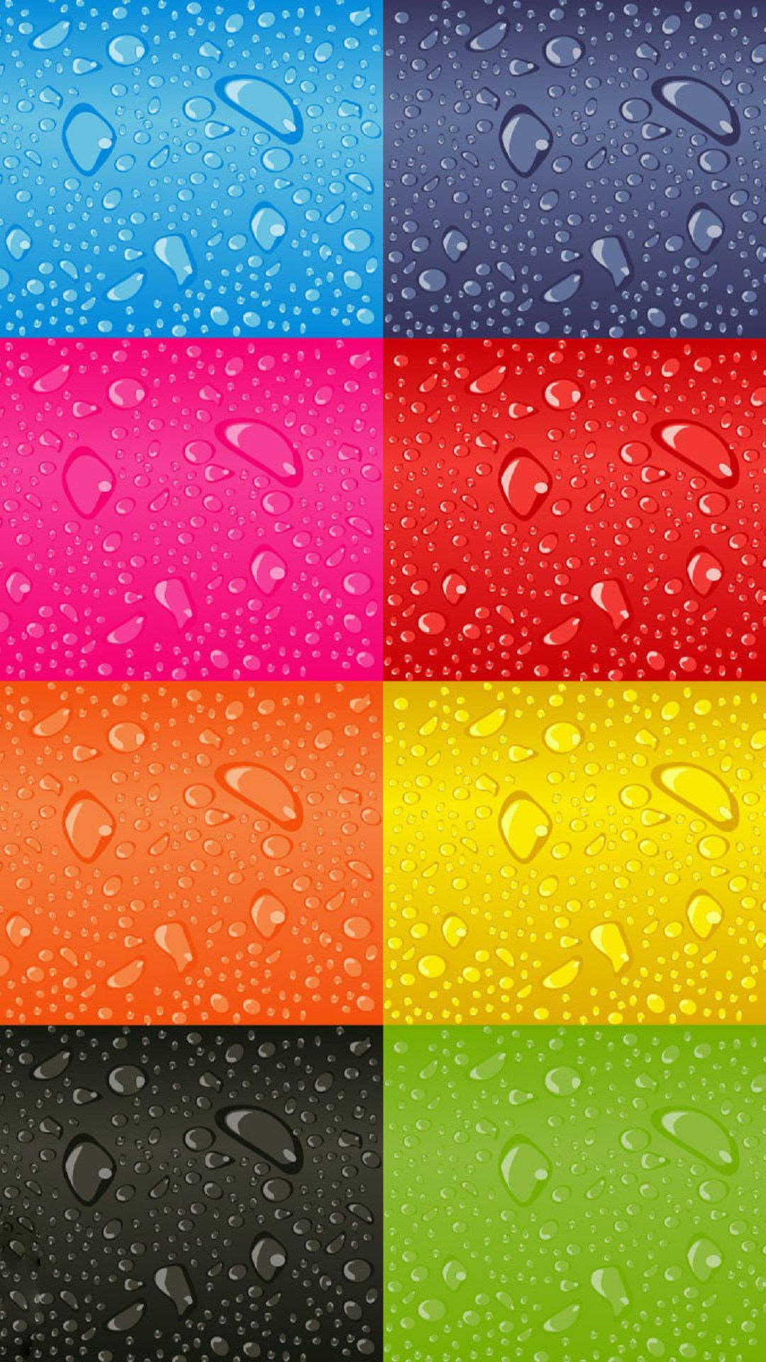 drops colored squares iphone 6 1080x1920