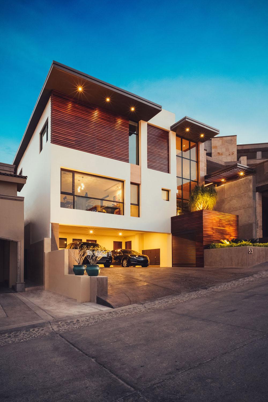 luxury house garage lights