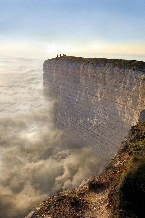 beachy head eastbourne england clouds rock