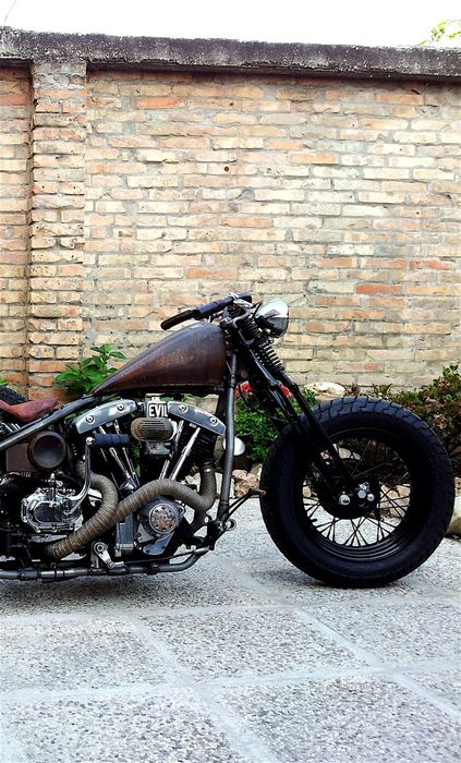 bike rusty bobber