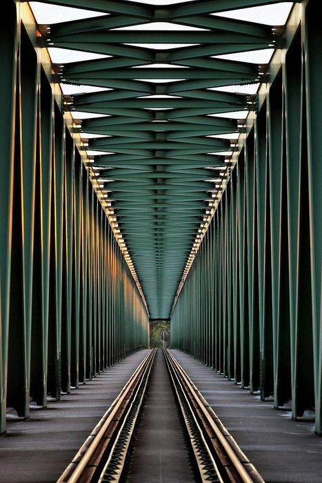 geometry railway way green