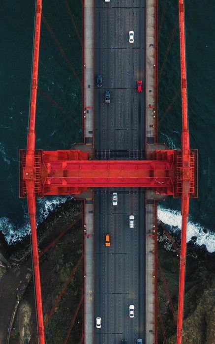 san francisco golden gate bridge topview