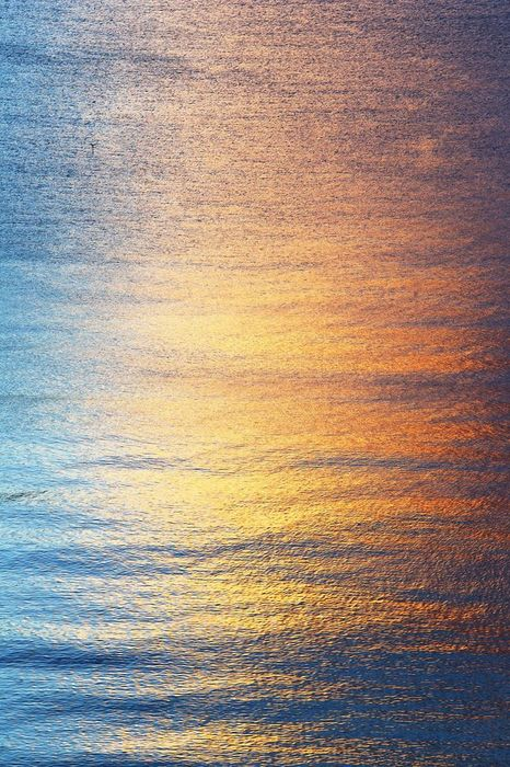 water ocean gradient orange blue wallpaper