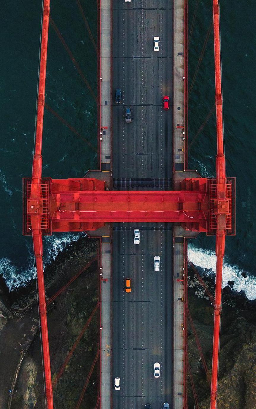 san francisco golden gate bridge topview