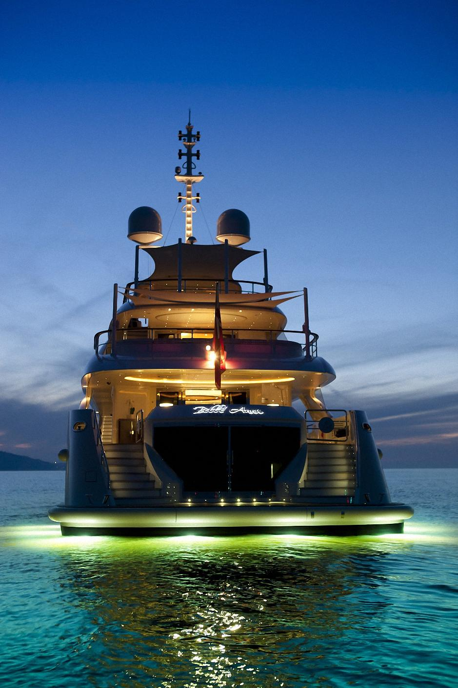 yacht water light ocean luxury wallpaper