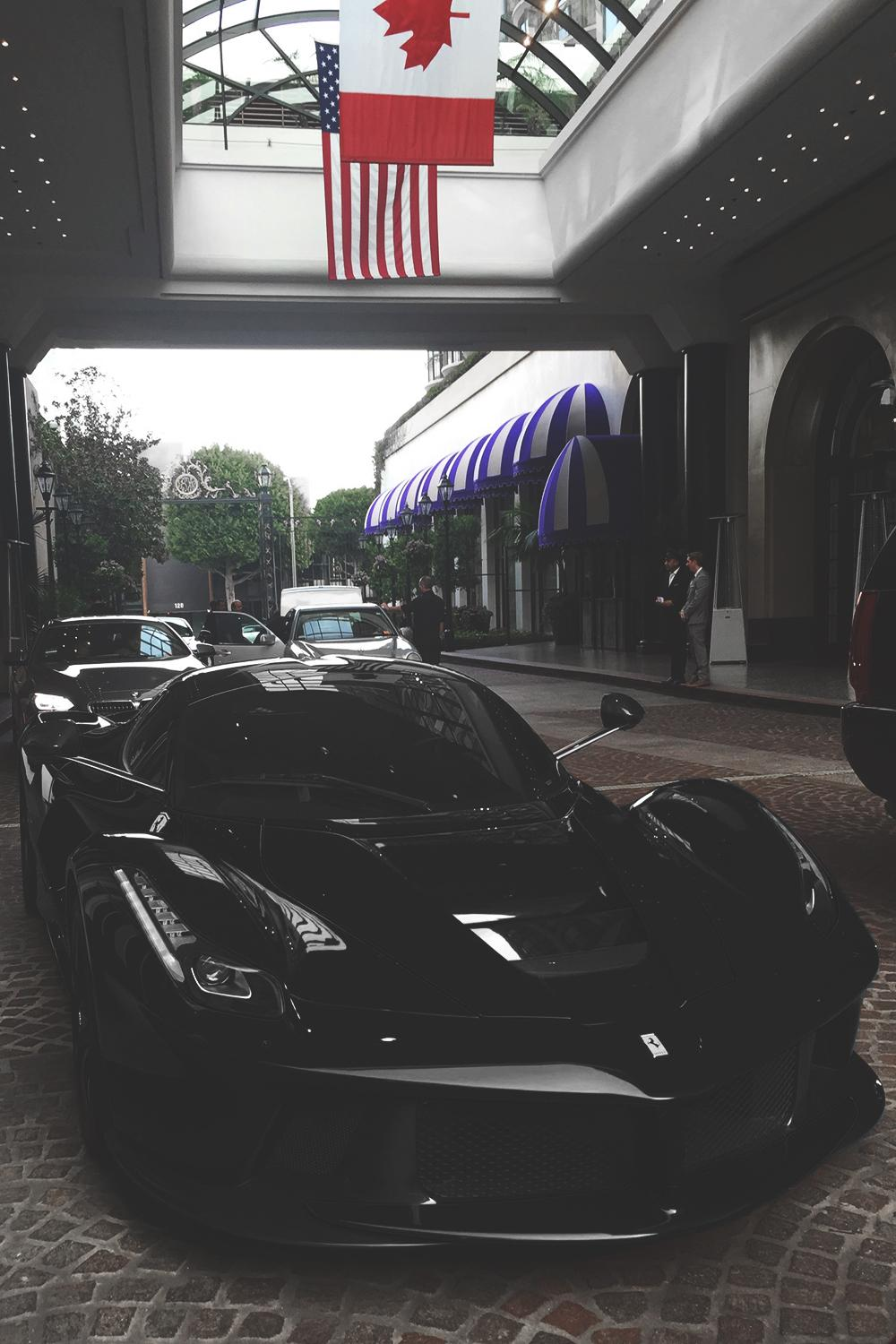 black ferrari laferrari hotel luxury