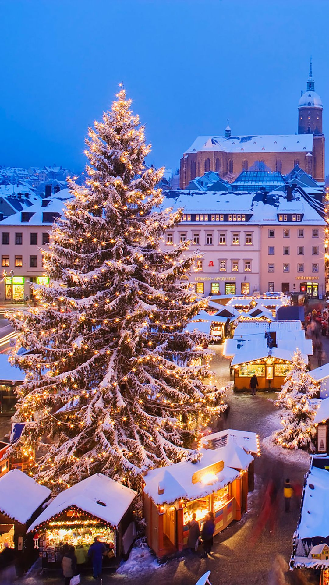 christmas market iphone wallpaper 1080x1920