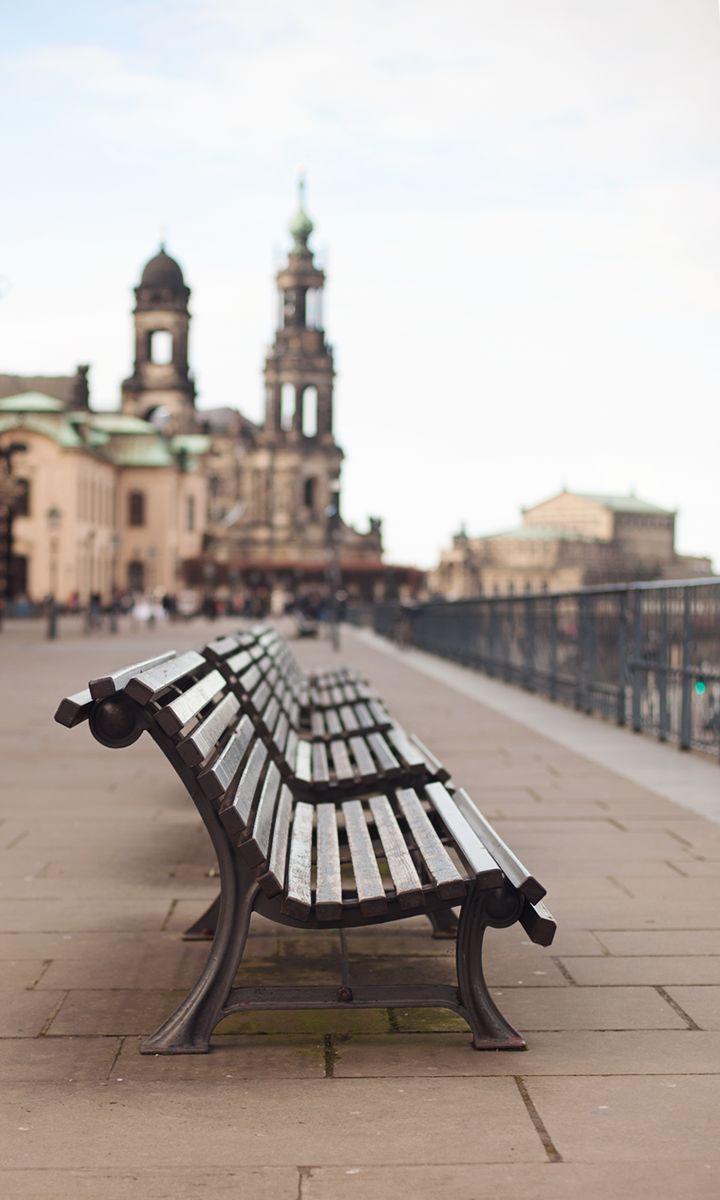 dresden city bench architecture sky travel tourism urban landscape