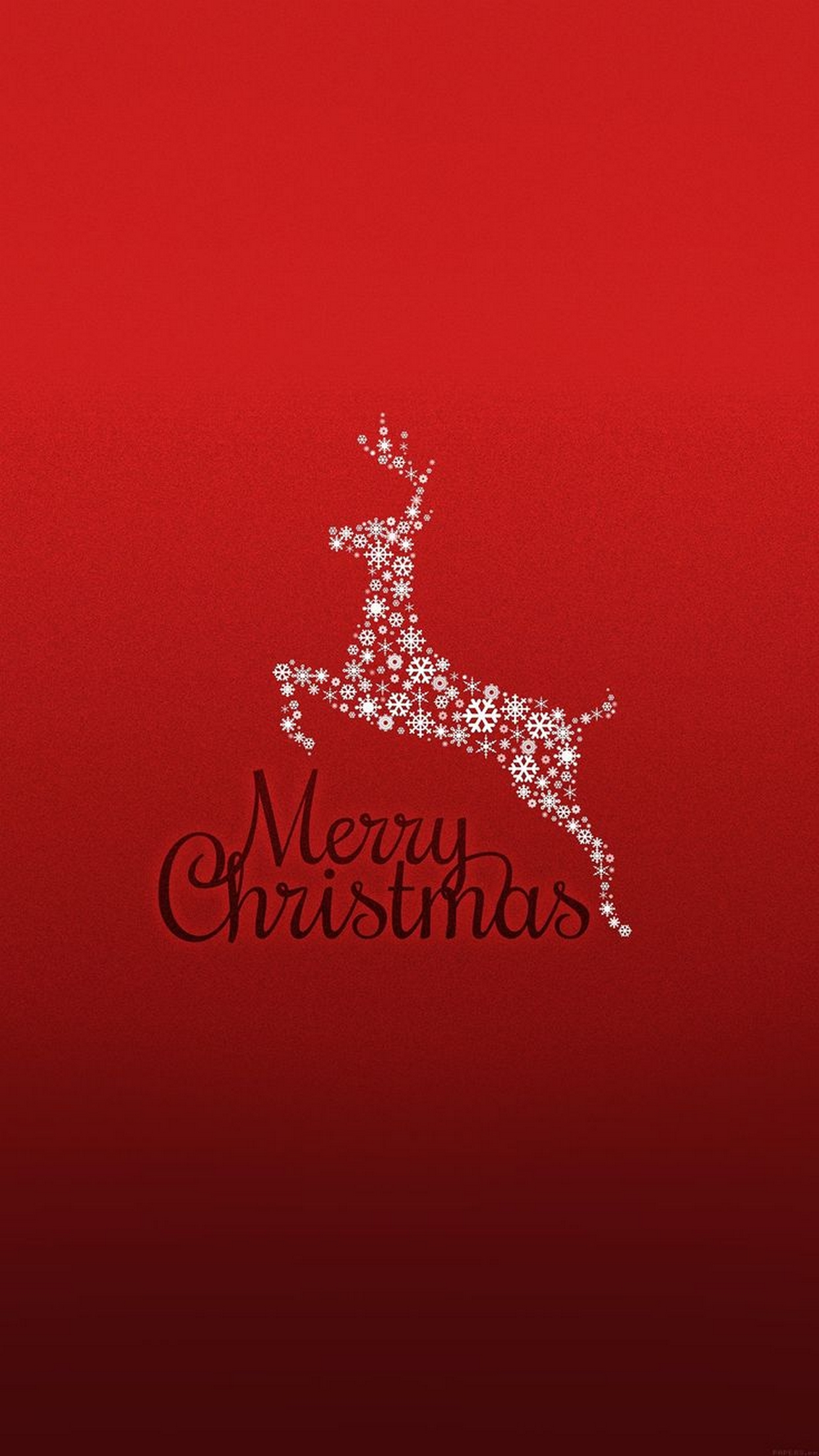 merry christmas deer red background