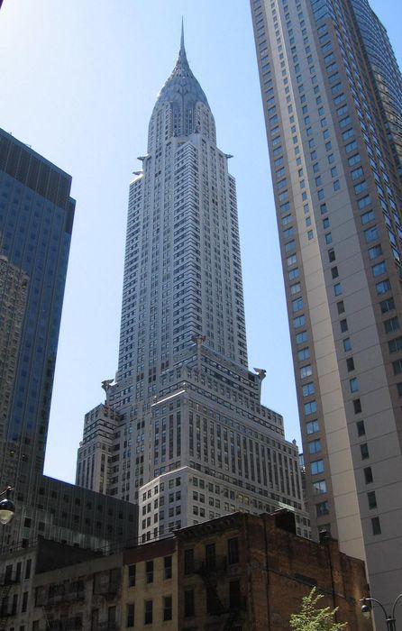 chrysler building nyc skyscraper sun iphone retina