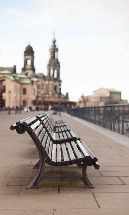 dresden city bench architecture sky travel tourism urban landscape