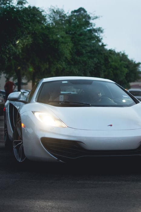 mclaren mp4 white lights street sportcar 1280x1920