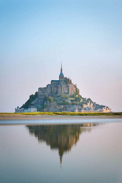 mont saint michel france tourism travel river castle palace sky
