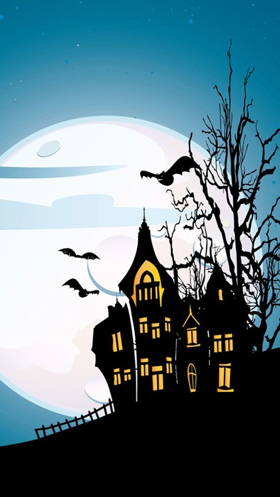 moon halloween silhouette sky scary haunt eerie horror ghost