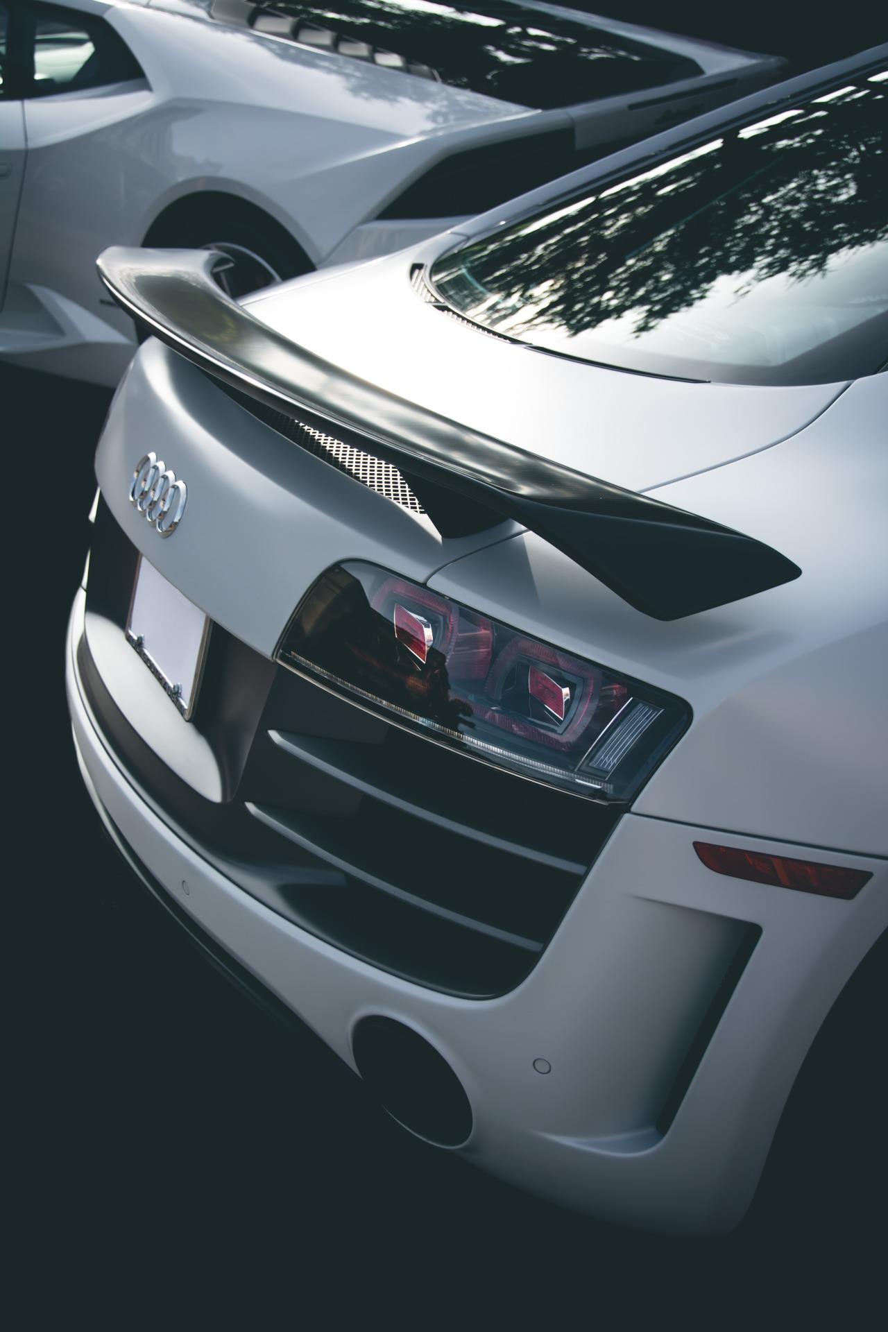 white audi a8 sport sportcar back 1280x1920