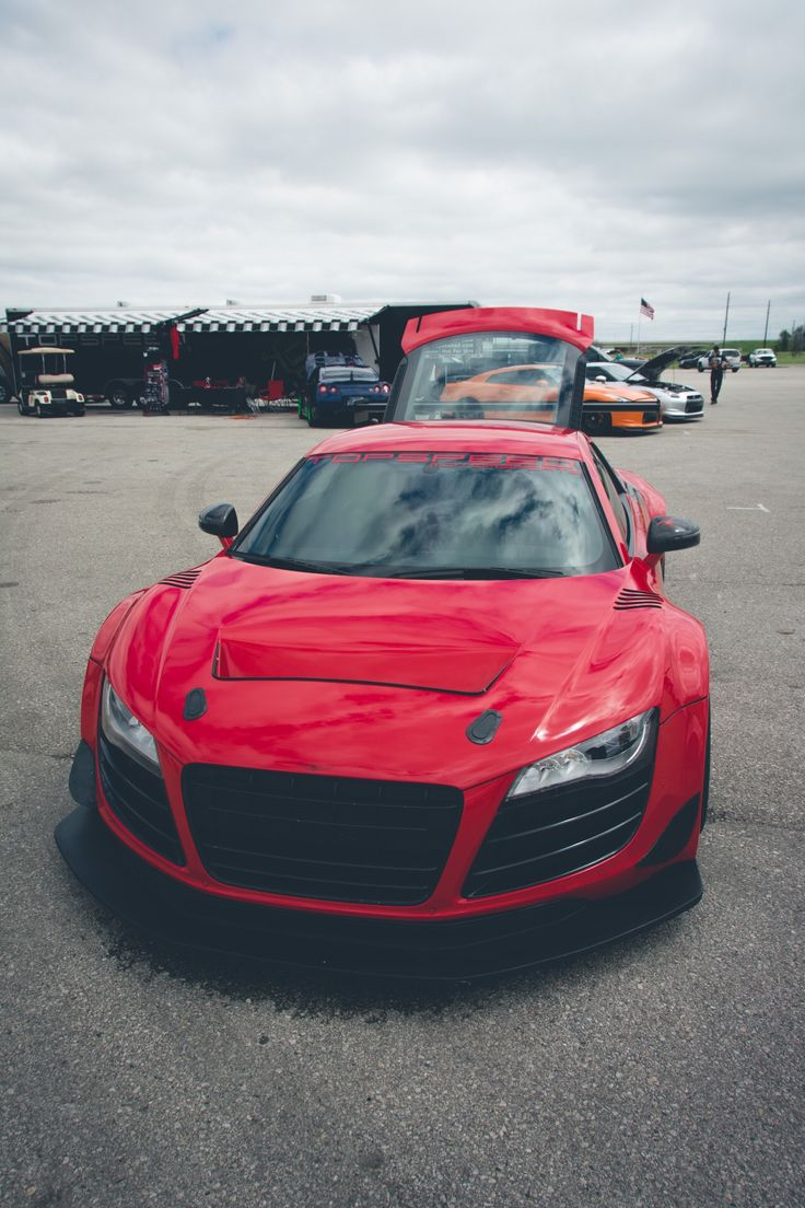 audi r8 red sport luxury car