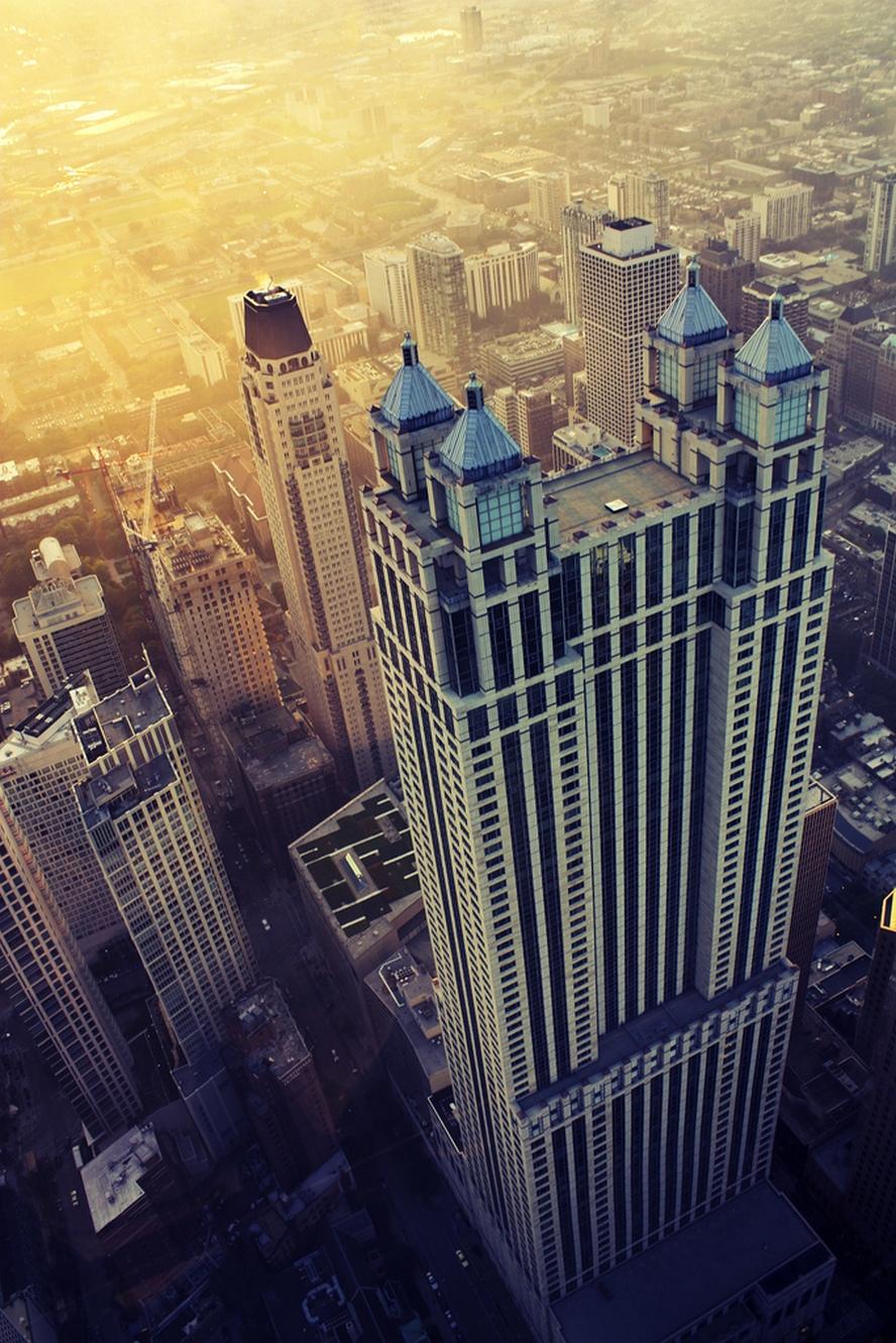 dubai skyscraper top view