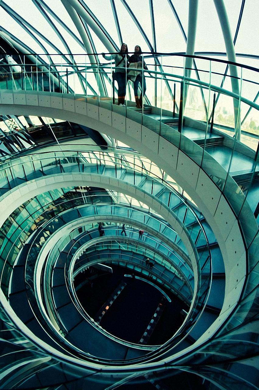 london architecture spiral stairs wallpaper
