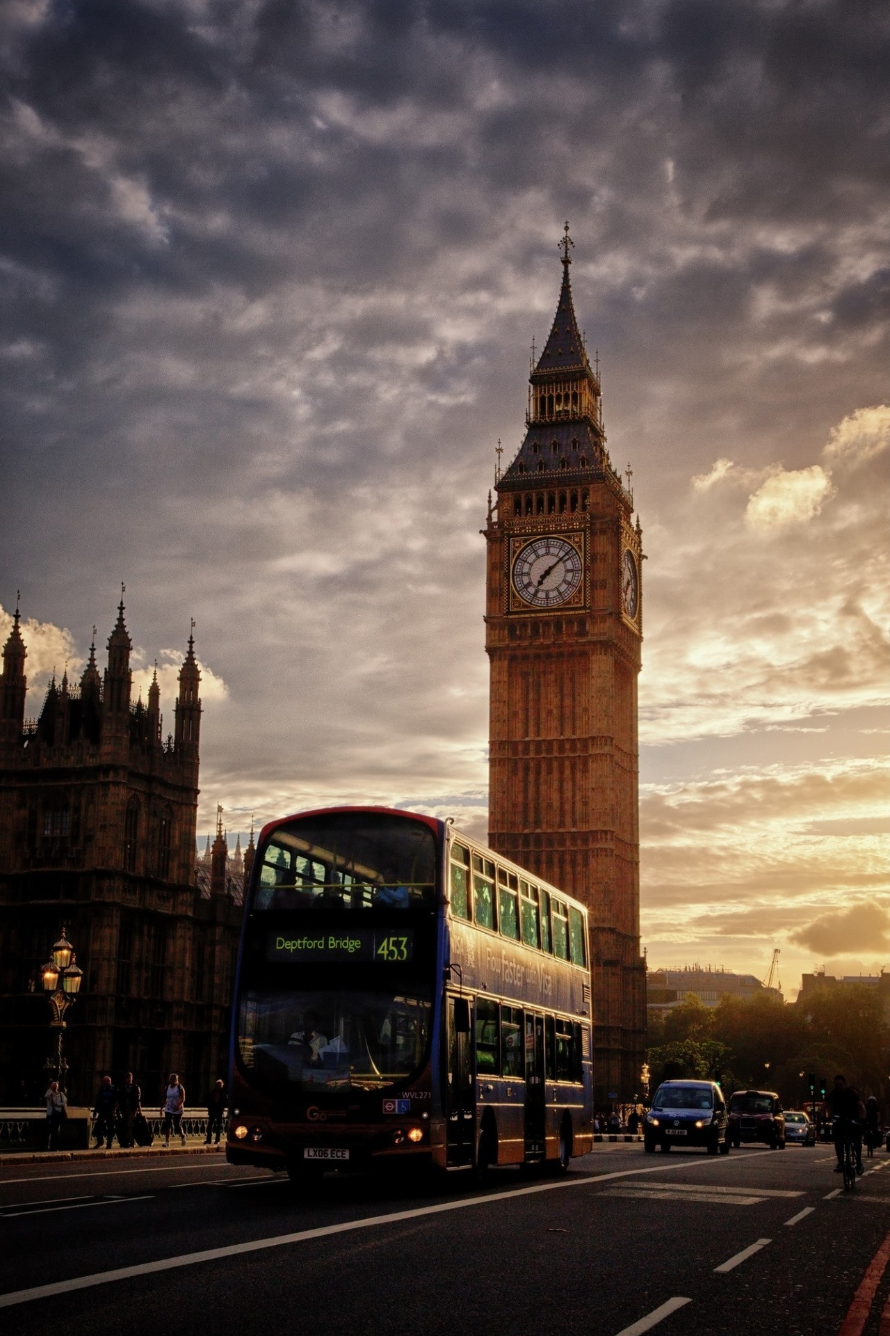 london bus bigben sunset road 1280x1920