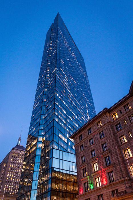 john hancock tower skyscraper city architecture urban glass