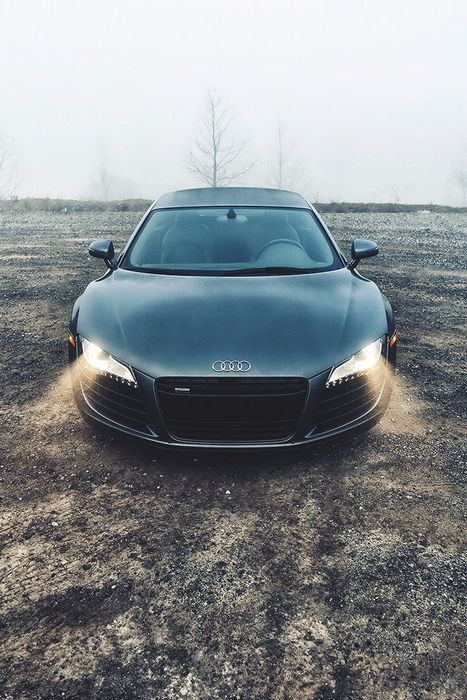 sportcar audi r8 light black