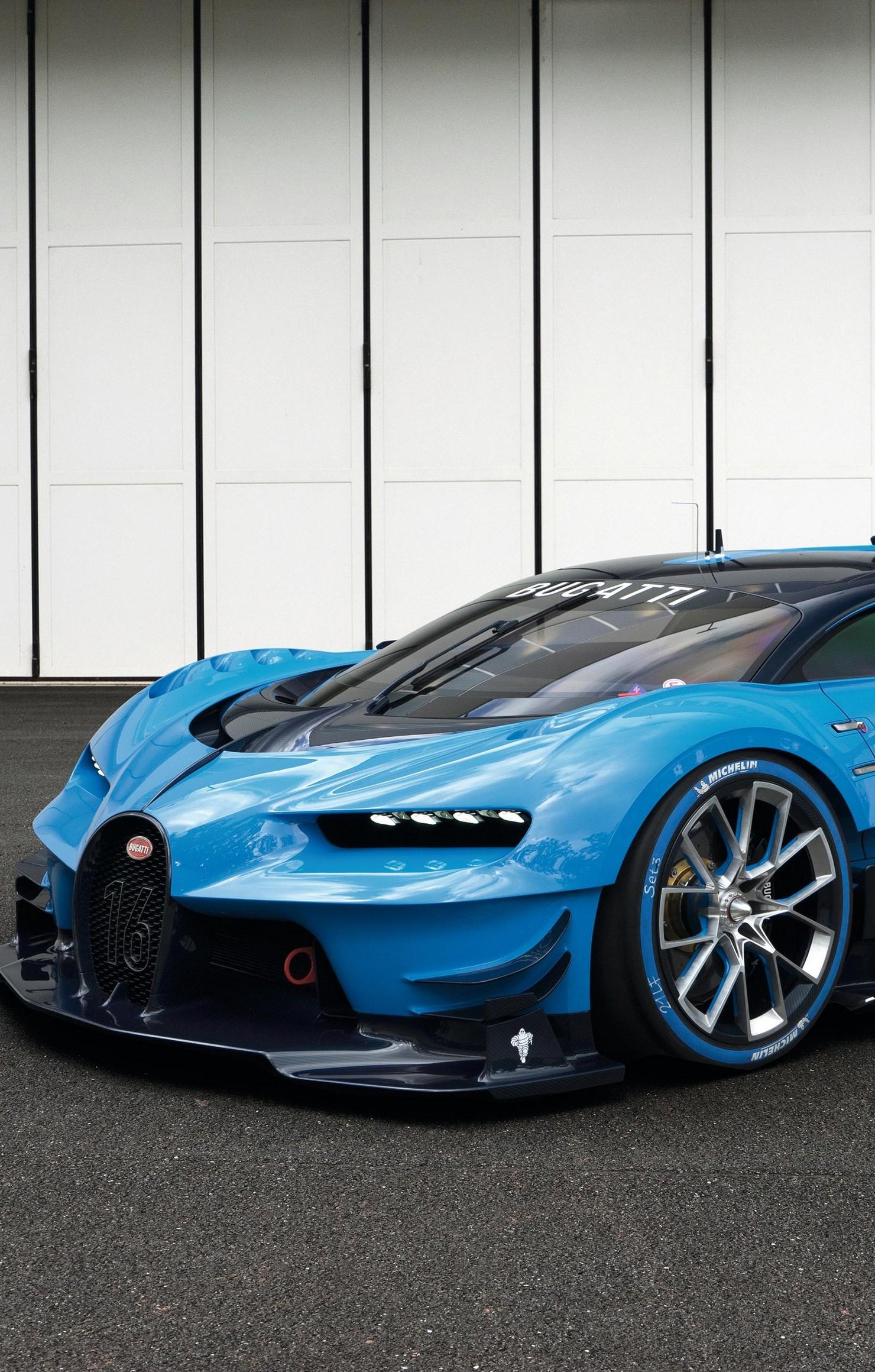 sportcar bugatti vision chiron gran turismo retina 1480x2320