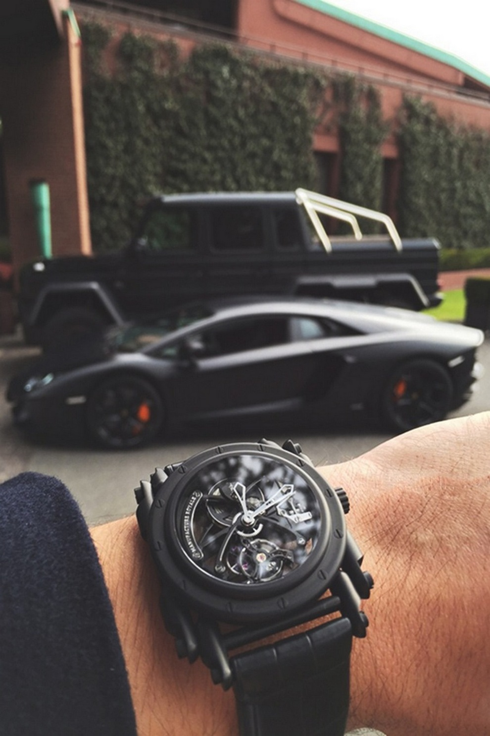 aventador black gelenvagen watch luxury