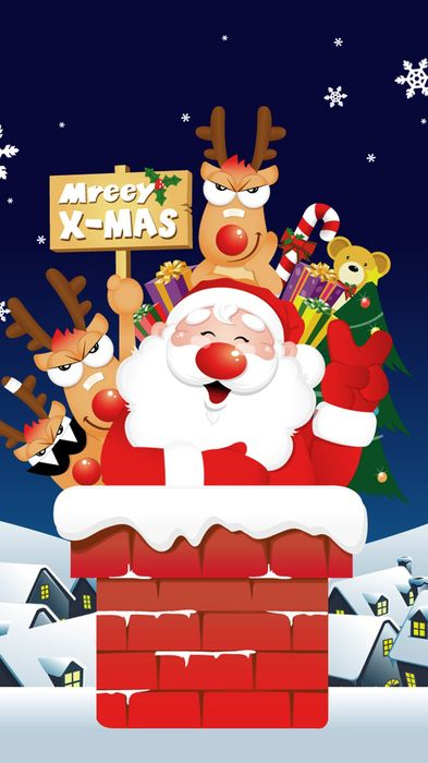 merry christmass xmas santa happy reindeer 1080x1920