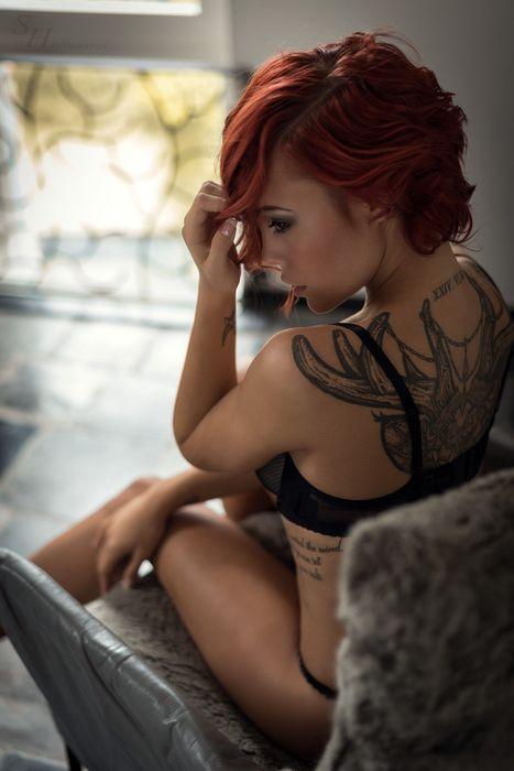 model girl tattoo attractive sexy pretty hair fashion face
