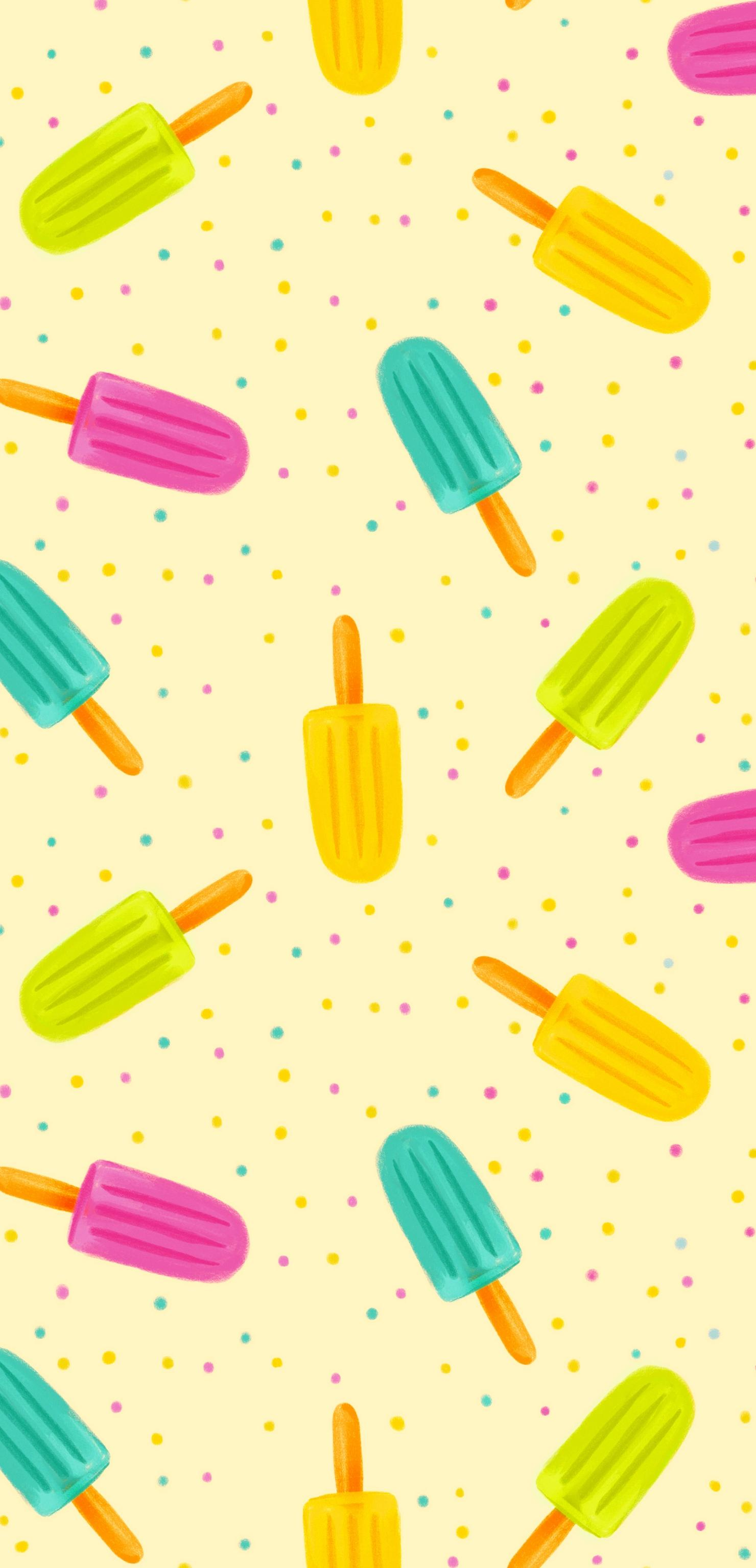 colorful ice cream background wallpaper