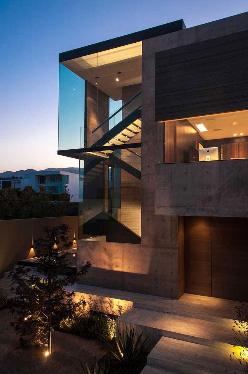 luxury dark house lights architecture