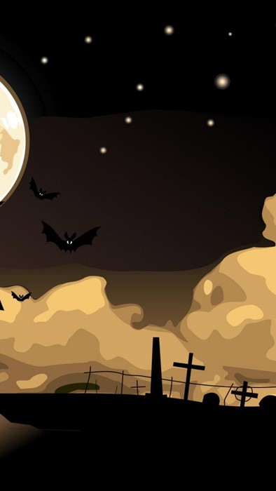 halloween sunset moon dawn silhouette sun light sky landscape illustration people travel