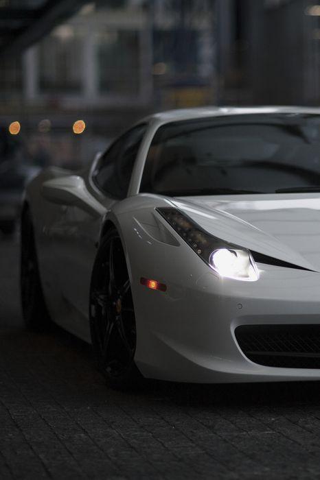 ferrari italia 458 white