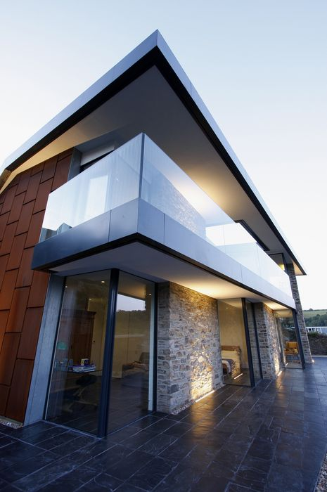 luxury house architecture building home sky city structure modern window