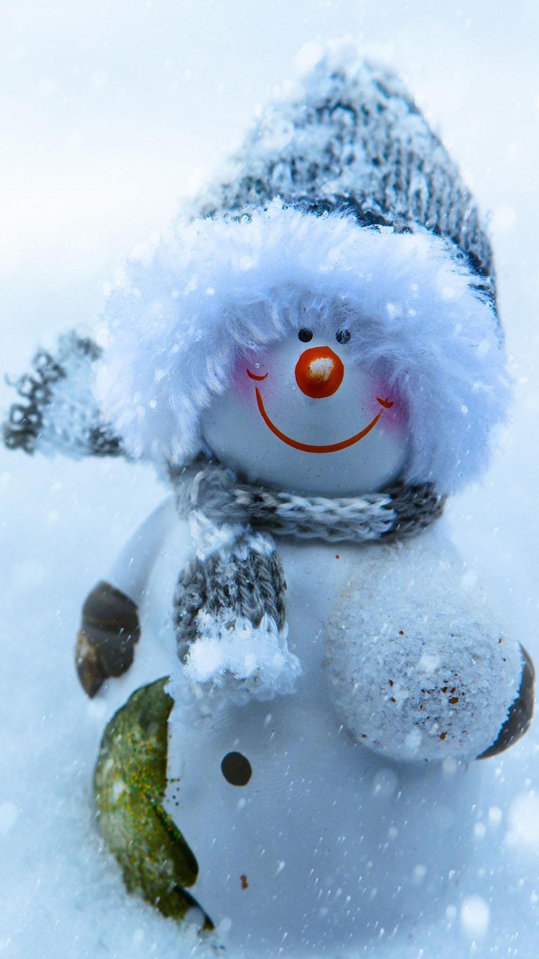 snowman snow scarf smile 1080x1920